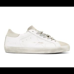 Golden Goose Superstar White Sneakers Size 41